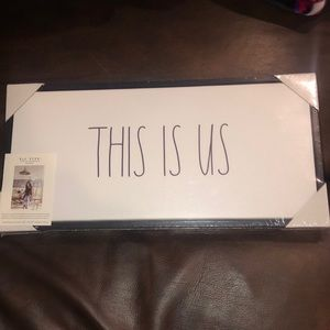 "Rae Dunn ""This Is Us"" Canvas Sign"